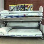 диван трансформер в двухъярусную кровать фото