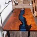 деревянный стол дизайнерский