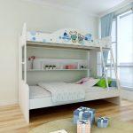 двухъярусная детская кровать белая