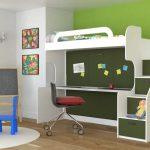 двухъярусная детская кровать в детской