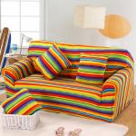 еврочехлы на диваны и кресла радужные