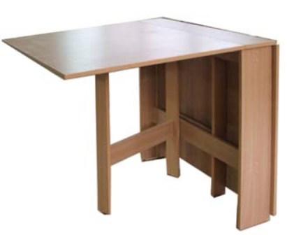 компактность стола-книжки