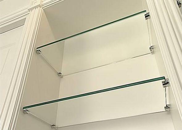крепеж для полок из стекла