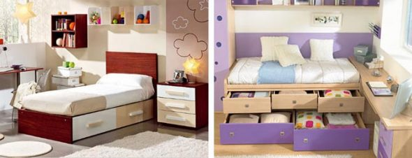 кровать с ящиками-выбор дизайна