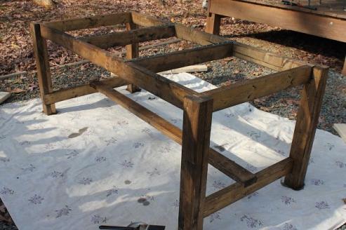 Деревянный стол своими руками на даче фото 820
