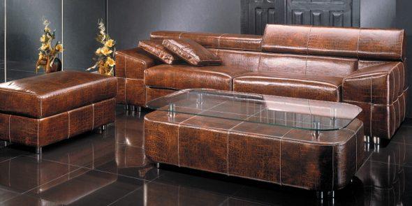 мебель кожаная коралл
