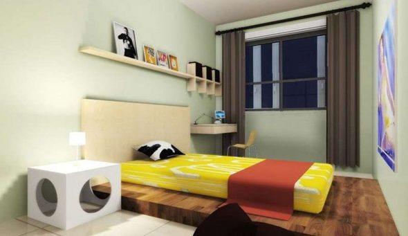 настенные полки для спальни