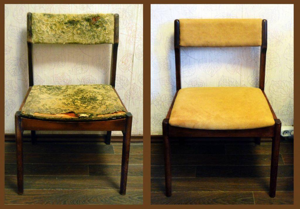 Как обновить обивку стула своими руками 93
