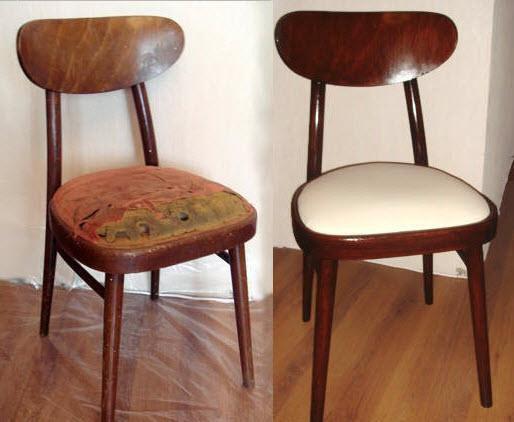 перетяжка старого стула фото