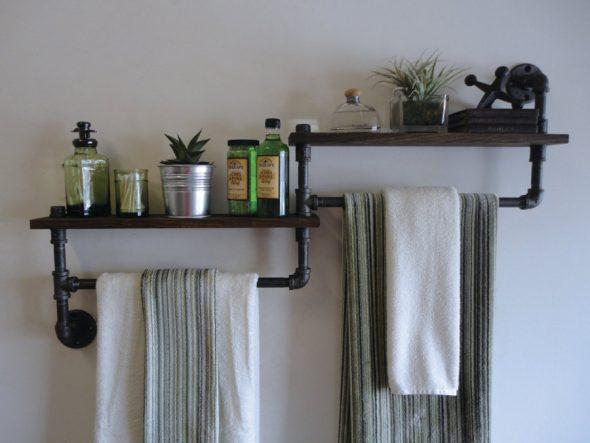 полочки с старих вещей для ванной