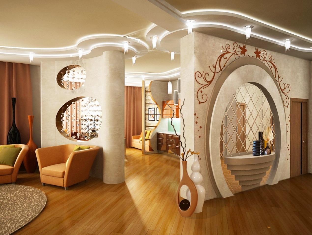 Дизайн работы гипсокартоном в квартирах