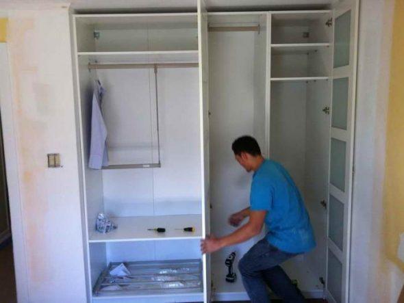 сборка шкафа углового купе