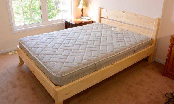 сделать двуспальную кровать самостоятельно