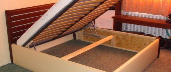 сделать металлический или деревянный каркас кровати