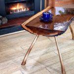 деревянный стол из спила