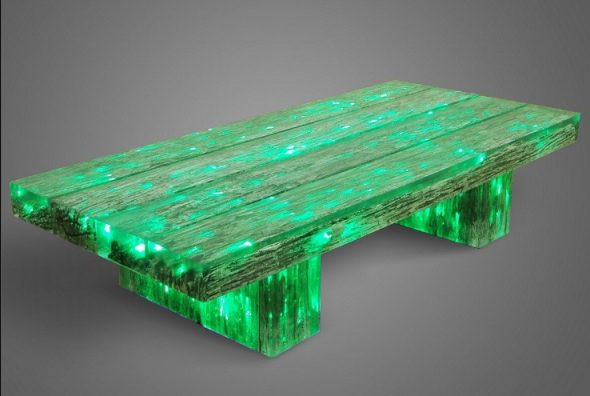 светящийся стол своими руками зеленого цвета