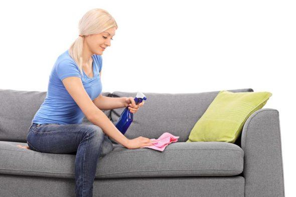 удаление пятен с мягкой мебели
