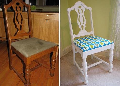 вариант перетяжки стула