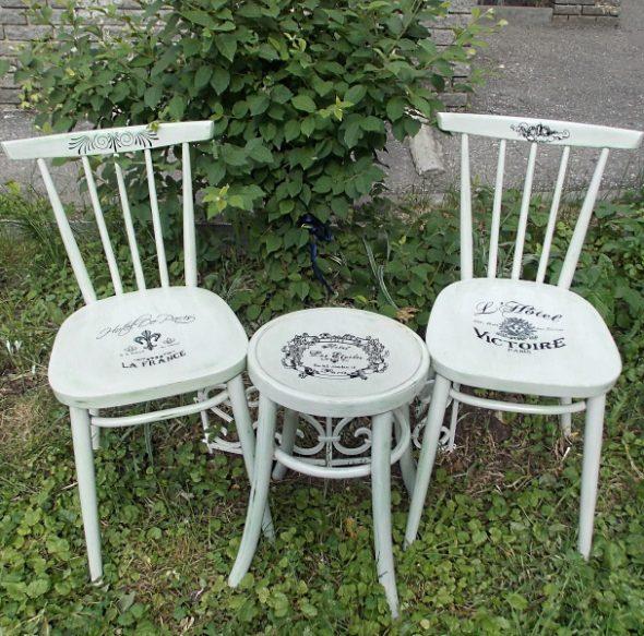 Декупаж стула в стиле прованс