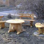 Деревянная дачная мебель