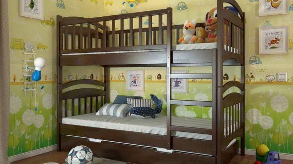 Детские двухъярусные кровати-фото