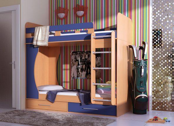 Детские двухъярусные кровати в дизайне