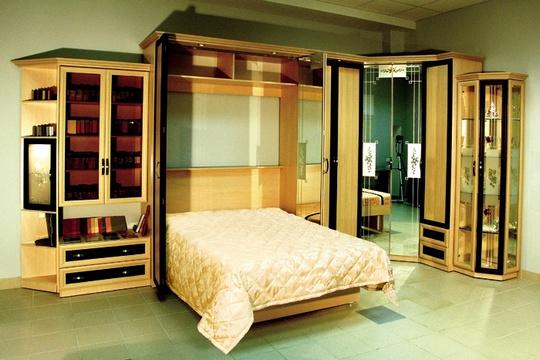 Дизайн кровати с подъемным механизмом