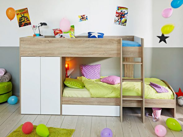 Двухъярусные кровати со шкафами