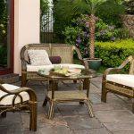 Комплект мебели из ротанга для отдыха