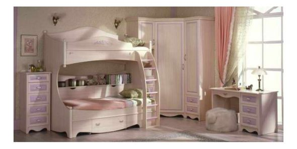 Красочные модели двухъярусных кроватей для детской комнаты
