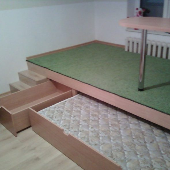 Кровать подиум для детской своими руками
