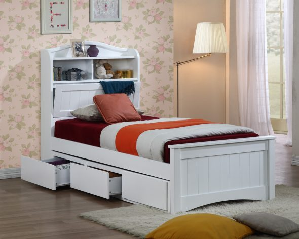 Кровати с ящиками в спинке