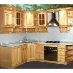 Кухня из мебельных щитов фото