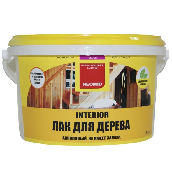 Лак для дерева Neomid INTERIOR
