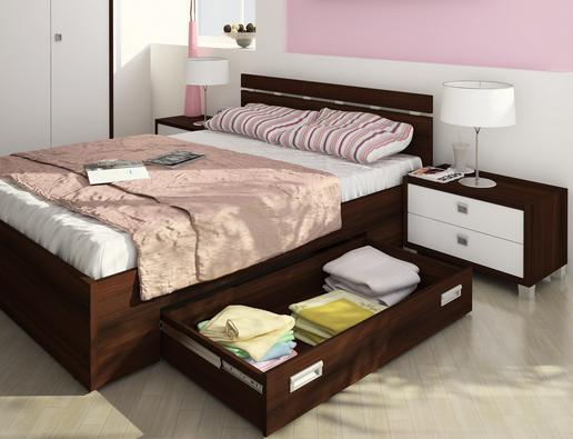 Мебель для спальни-кровать с ящиками