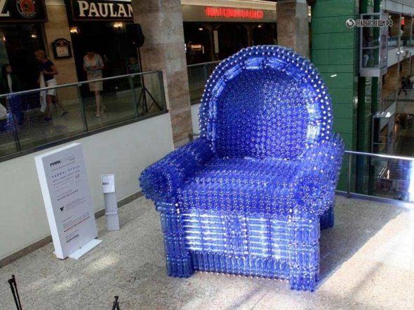 Мебель из пластиковых бутылок своими руками-кресло