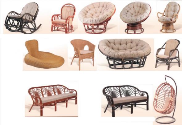 Мебель из ротанга и лозы