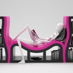 Необычный предмет мебели в красивой форме