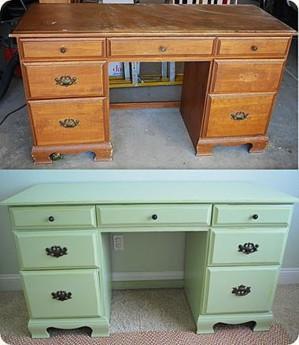 Оливковый письменный стол