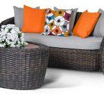 Плетеная садовая мебель для дачи