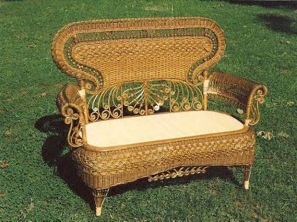 Плетёная мебель из лозы для отдыха