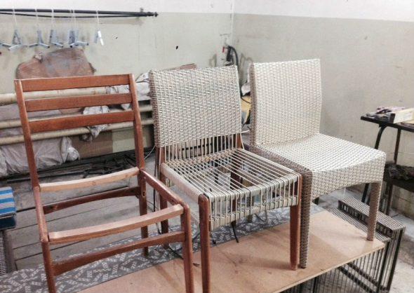 Плетёная мебель из ротанга своими руками