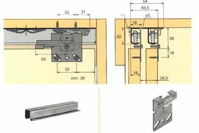 Подвесная система дверей-купе Hettich (Германия)