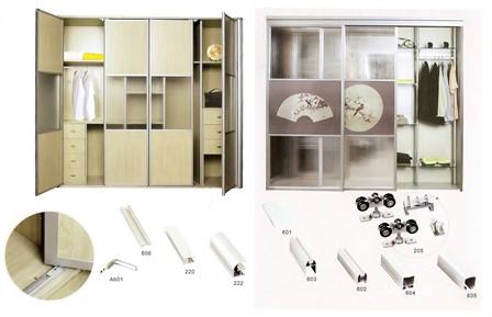 Подвесная система шкаф-купе-фото