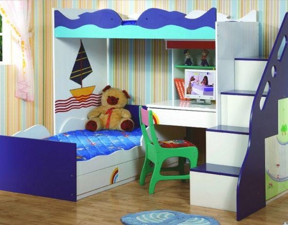 Преимущества двухъярусных детских кроватей