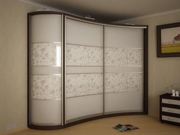 Раздвижные системы и фасадные материалы для радиусных шкафов-купе