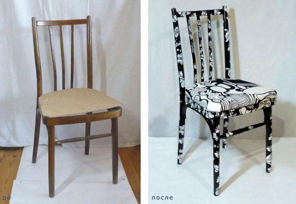 Реставрация стула для кухни