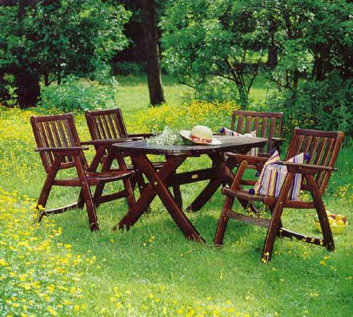 Садовая красивая мебель фото из дерева