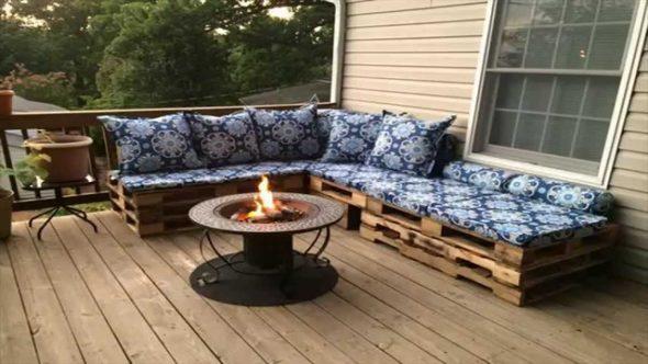 Садовая мебель диван из деревянных паллет своими руками