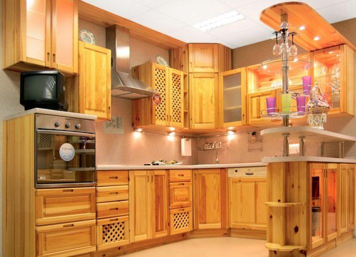 Кухни из мебельных щитов